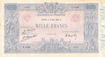 France 1000 Francs Blue on lilac - 11-05-1926 - Serial U.2346 - VF