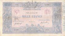 France 1000 Francs Blue on lilac - 13-06-1917 - Serial Q.1060 -  G+