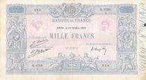 France 1000 Francs Blue on lilac - 13-10-1923 - Serial K.1728 -  VF