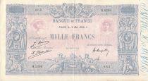 France 1000 Francs Blue on lilac - 15-05-1926 - Serial H.2359 - VF