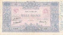 France 1000 Francs Blue on lilac - 16-03-1926 - Serial U.2180 - VF