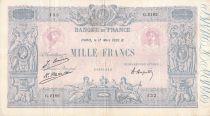 France 1000 Francs Blue on lilac - 17-03-1926 - Serial G.2182 - VF