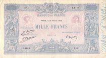 France 1000 Francs Blue on lilac - 18-02-1926 - Serial E.2158 -  VF