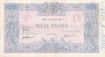 France 1000 Francs Blue on lilac - 19-07-1912 - Serial C.781 -  VF