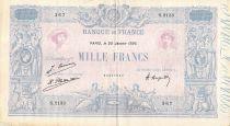France 1000 Francs Blue on lilac - 20-01-1926 - Serial S.2133 - VF