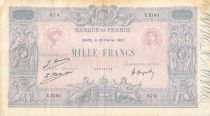 France 1000 Francs Blue on lilac - 20-02-1926 - Serial E.2160 - F to VF