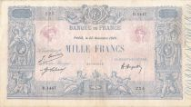 France 1000 Francs Blue on lilac - 22-11-1920 - Serial D.1447 -  F to VF