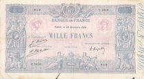 France 1000 Francs Blue on lilac - 23-12-1924 - Serial Y.1810 -  F to VF