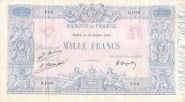 France 1000 Francs Blue on lilac - 25-10-1924 - Serial E.1762 -  F+