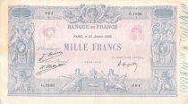 France 1000 Francs Blue on lilac - 27-01-1925 - Serial G.1838 - VF