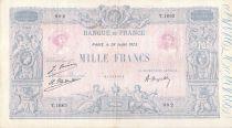 France 1000 Francs Blue on lilac - 28-07-1923 - Serial T.1663 -  VF+