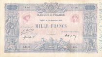 France 1000 Francs Blue on lilac - 29-11-1920 - Serial D.1443 -  F to VF