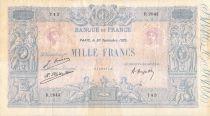 France 1000 Francs Blue on lilac - 30-09-1925 - Serial R.2043 - VF