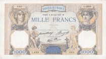 France 1000 Francs Ceres and Mercury -  26/08/1937 Serial D3024