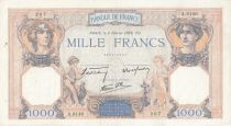 France 1000 Francs Ceres and Mercury - 02-02-1939 Serial A.6140 - VF