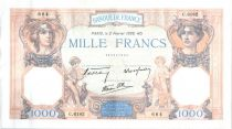 France 1000 Francs Ceres and Mercury - 02-02-1939 Serial C.6182-664