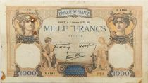 France 1000 Francs Ceres and Mercury - 02-02-1939 Serial N.6184 - F
