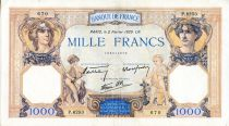 France 1000 Francs Ceres and Mercury - 02/02/1939 Serial P.6253 - VF