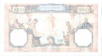 France 1000 Francs Ceres and Mercury - 02-02-1939 Serial V.6196-094