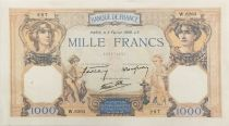 France 1000 Francs Ceres and Mercury - 02-02-1939 Serial W.6263 - XF
