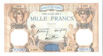France 1000 Francs Ceres and Mercury - 02-06-1938 Serial A.3358