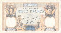 France 1000 Francs Ceres and Mercury - 02-11-1939 Serial U.8002 - F