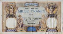 France 1000 Francs Ceres and Mercury - 03-01-1930 Serial X.784 - F
