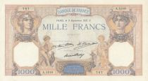 France 1000 Francs Ceres and Mercury - 03-09-1931 Serial A.1518 - P.79 - XF+