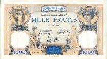 France 1000 Francs Ceres and Mercury - 03/11/1938 Serial P.5283 - VF