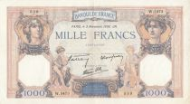 France 1000 Francs Ceres and Mercury - 03-11-1938 Serial W.5473- P.90 - VF+