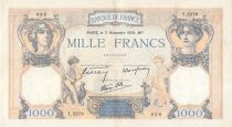 France 1000 Francs Ceres and Mercury - 03-11-1938 Serial Y.5279 - F to VF