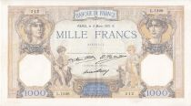 France 1000 Francs Ceres and Mercury - 05/03/1931 Serial L1226