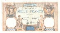 France 1000 Francs Ceres and Mercury - 05-05-1938 Serial D.3264 - VF