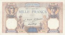 France 1000 Francs Ceres and Mercury - 07-01-1929 Serial N.763