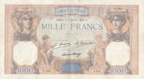 France 1000 Francs Ceres and Mercury - 07-01-1929 Serial Y.763 -aVF