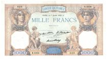 France 1000 Francs Ceres and Mercury - 07-07-1932 Serial D.2024 - VF