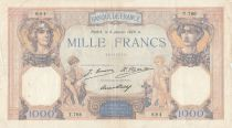 France 1000 Francs Ceres and Mercury - 08-01-1929 Serial T.766 - P.79