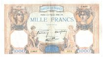 France 1000 Francs Ceres and Mercury - 08-02-1940 Serial Z.8837 - VF