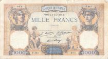 France 1000 Francs Ceres and Mercury - 08-08-1927 Serial F.443 - F+