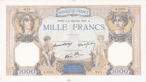 France 1000 Francs Ceres and Mercury - 09/12/1937 Serial A3101