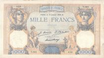 France 1000 Francs Ceres and Mercury - 10-01-1930 Serial T.803 - F+
