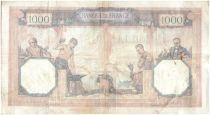 France 1000 Francs Ceres and Mercury - 10/09/1927 Serial P528