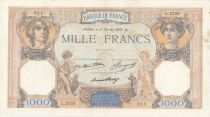 France 1000 Francs Ceres and Mercury - 11-02-1937 Serial L.2725