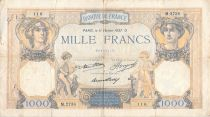 France 1000 Francs Ceres and Mercury - 11-02-1937 Serial M.2738 - F