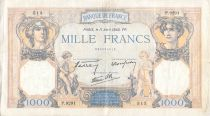 France 1000 Francs Ceres and Mercury - 11-04-1940 Serial P.9291 - F+