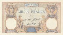 France 1000 Francs Ceres and Mercury - 12-03-1931 - A.1518