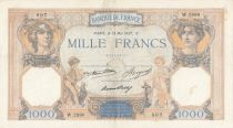 France 1000 Francs Ceres and Mercury - 13-05-1937 Serial W.2890- P.79 - VF