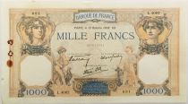 France 1000 Francs Ceres and Mercury - 13-10-1938 Serial L.4082 - VF