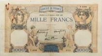 France 1000 Francs Ceres and Mercury - 13-10-1938 Serial P.4096 - VF