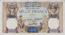 France 1000 Francs Ceres and Mercury - 14-01-1930 Serial J.813 - VF